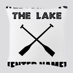 Welcome Lake [Personalize It!] Woven Throw Pillow